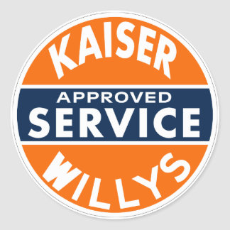 Vintage Kaiser Willys service sign Classic Round Sticker