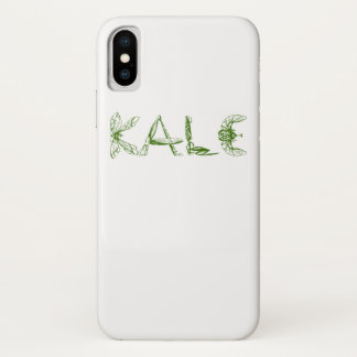 Vintage Kale University Funny Vegan iPhone X Case