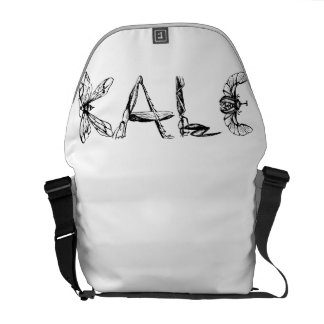 Vintage Kale University Funny Vegan Messenger Bag