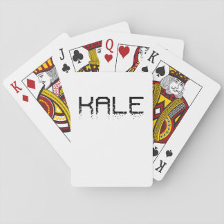 Vintage Kale University Funny Vegan Playing Cards