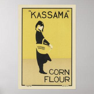 Vintage Kassama Corn Flour Ad Poster