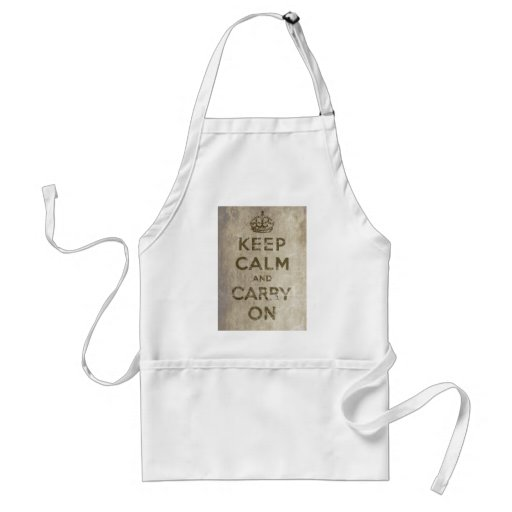 Vintage Keep Calm And Carry On Adult Apron