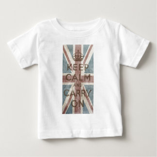 Vintage Keep Calm And Carry On Baby T-Shirt