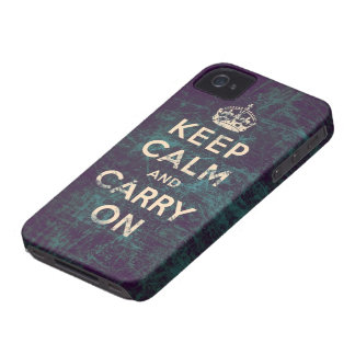 Vintage keep calm and carry on iPhone 4 cases