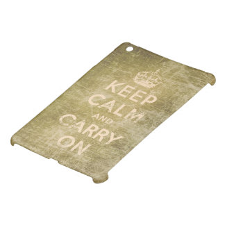 Vintage keep calm and carry on cover for the iPad mini