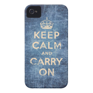 Vintage keep calm and carry on iPhone 4 case