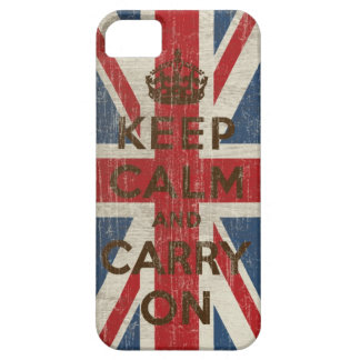 Vintage Keep Calm And Carry On iPhone 5 Cover