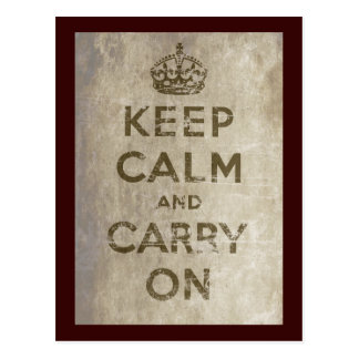 Vintage Keep Calm And Carry On Postcards