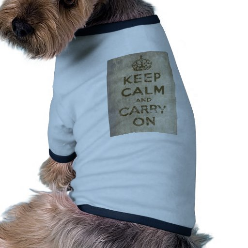 Vintage Keep Calm And Carry On Ringer Dog Shirt