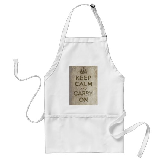 Vintage Keep Calm And Carry On Standard Apron