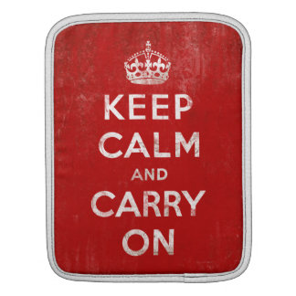 Vintage Keep Calm and Carry On Tablet iPad Case Sleeves For iPads
