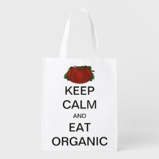 Vintage Keep Calm and Eat Organic Tomato