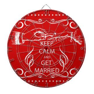 Vintage KEEP CALM  GET MARRIED Dartboard