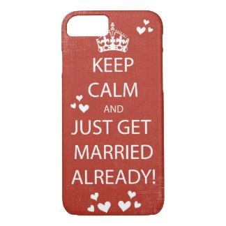Vintage KEEP CALM  GET MARRIED iPhone 7 Case