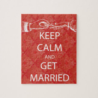 Vintage KEEP CALM  GET MARRIED Jigsaw Puzzle