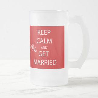 Vintage KEEP CALM  GET MARRIED Mug