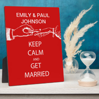 Vintage KEEP CALM  GET MARRIED Photo Plaques