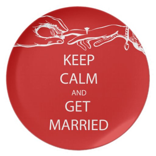 Vintage KEEP CALM  GET MARRIED Party Plate