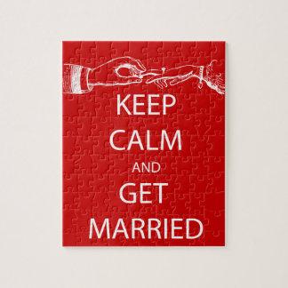 Vintage KEEP CALM  GET MARRIED Puzzle