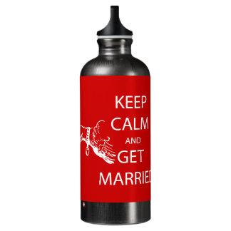 Vintage KEEP CALM  GET MARRIED SIGG Traveller 0.6L Water Bottle