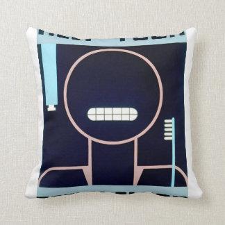 Vintage Keep Your Teeth Clean FAP Poster Throw Pillow