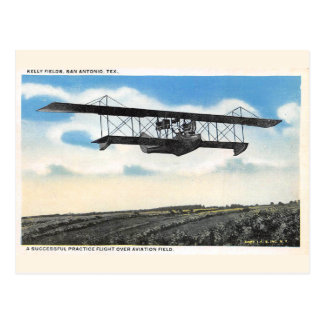 Vintage Kelly Fields Aviation Field Airplane Test Postcard