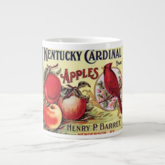 Vintage Kentucky Cardinal Apples, Henry P Barret,  Large Coffee Mug
