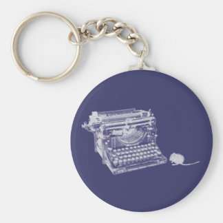 Vintage keyboard and mouse keychain