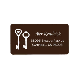Vintage Keys Labels - Brown