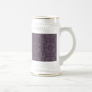 Vintage Khaki Lace Elegant Seamless On Acai Viole Mugs