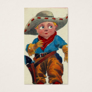 Vintage Kid Cowboy Business Card