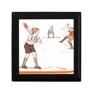 Vintage Kids Boys Baseball Game Gift Box