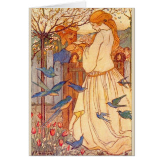 Vintage - King and a Maiden, Card