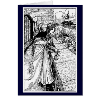 Vintage - King Arthur Sees Guinevere Card