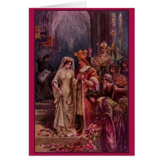 Vintage King Arthur Wedding Card