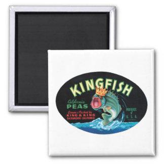 Vintage Kingfish Peas Crate Label Refrigerator Magnet