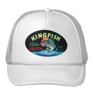 Vintage Kingfish Peas Crate Label Mesh Hats