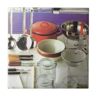 Vintage Kitchen Essentials Small Square Tile