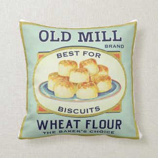Vintage Kitchen Label Pillow Baking Theme
