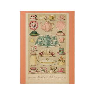 Vintage Kitchen Wallpaper Wood Poster