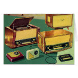 Vintage Kitsch 50s High Fidelity Stereo TV Sets Greeting Card