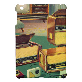 Vintage Kitsch 50s High Fidelity Stereo TV Sets iPad Mini Cover