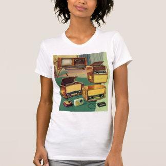 Vintage Kitsch 50s High Fidelity Stereo TV Sets Tshirts