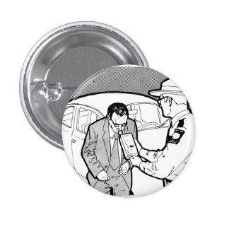 Vintage Kitsch 60s Driving Breathalyzer DWI Pinback Button