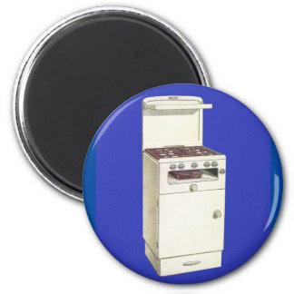 Vintage Kitsch Appliances Gas Burner Stove Oven 6 Cm Round Magnet