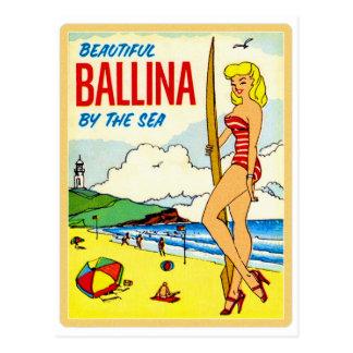 Vintage Kitsch Beautiful Ballina Bikini Decal Postcard