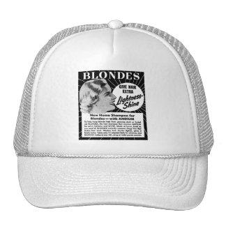 Vintage Kitsch Blondes 40s Shampoo Ad Mesh Hat