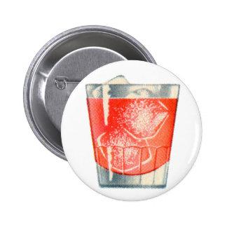 Vintage Kitsch Booze Cocktails Gin Mist Drink Pinback Buttons