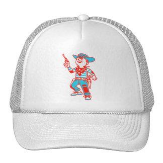 Vintage Kitsch Cartoon Cowboy Kid Boy Trucker Hats