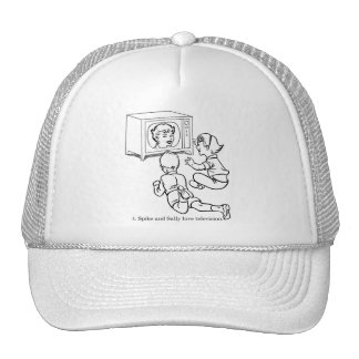 Vintage Kitsch Coloring Book Spike & Sally Love TV Trucker Hat